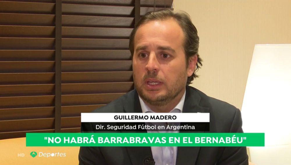 """Guillermo Madero, jefe de seguridad del Gobierno argentino: """"Los 'barras bravas' no van a venir a España"""""""