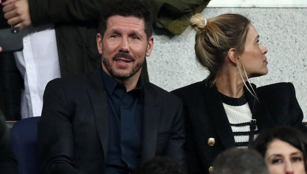 Simeone, también presente en el Bernabéu