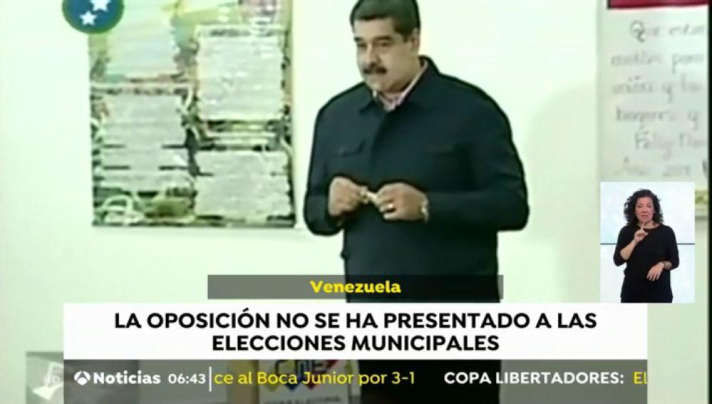 La oposición no se presenta a los comicios de Venezuela por considerar el proceso 'una farsa'