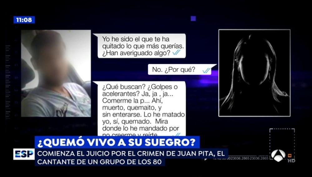 Crueles mensajes del crimen de Llagosta.