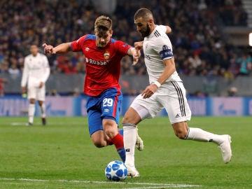 Momento del partido entre Real Madrid y CSKA