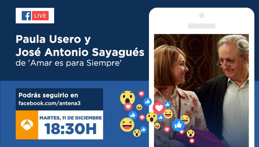 Paula Usero y José Antonio Sayagués, el martes en directo en Facebook Live