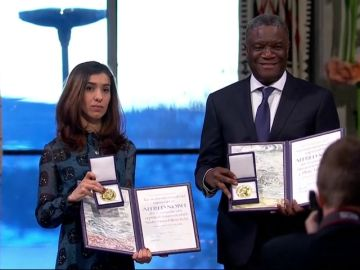 Mukwege y Murad recogen el Nobel de la Paz por lucha contra violencia sexual