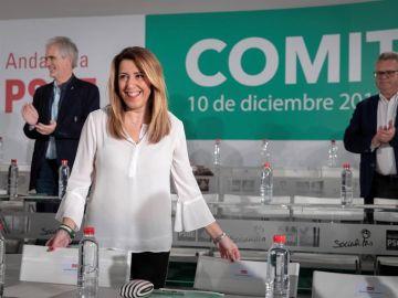 La secretaria general del PSOE-A y presidenta andaluza en funciones, Susana Díaz