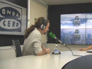 Pablo Iglesias, en Julia en la Onda