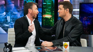 Michael Bublé demuestra cómo canta en la piel de Frank Sinatra, Elvis Presley o Dean Martin en 'El Hormiguero 3.0'