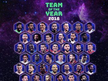 Los nominados al equipo del año de la UEFA 2018