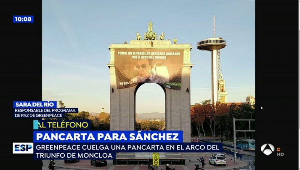 Por Que Ha Aparecido Una Pancarta Gigante De Pedro Sanchez En El