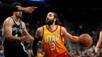Ricky Rubio en el partido de los Utah Jazz vs San Antonio Spurs