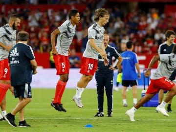 Modric y Varane entrenan juntos