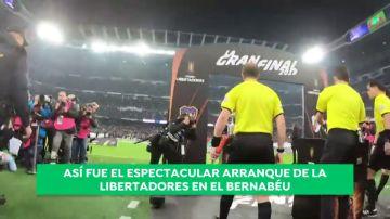 El espectacular inicio de la Libertadores en el Bernabéu, a través de los ojos de un niño