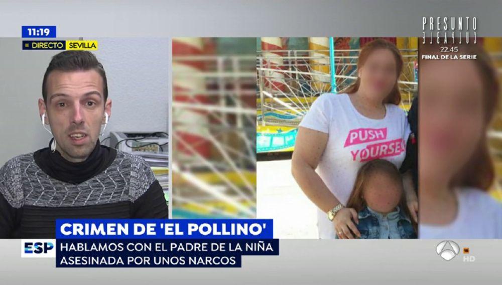 El padre de la niña asesinada en Dos Hermanas (Sevilla).