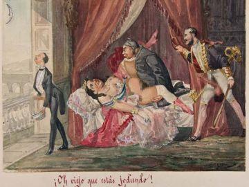 Isabel II en una acuarela de los hermanos Bécquer