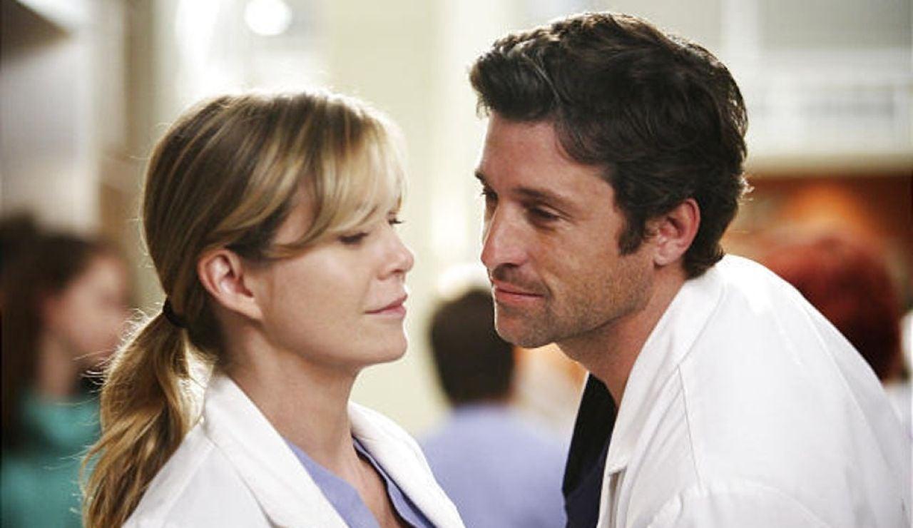 Meredith Grey y Derek Shepherd en 'Anatomía de Grey'