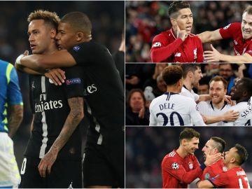 PSG, Liverpool, Tottenham y Bayern celebran goles en la Champions