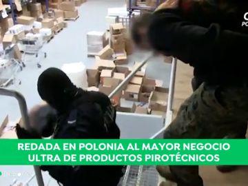 Golpe policial a 'ultrashop', el mayor proovedor de material de los ultras de Europa: 35 detenidos y 500 kilos de explosivo decomisados
