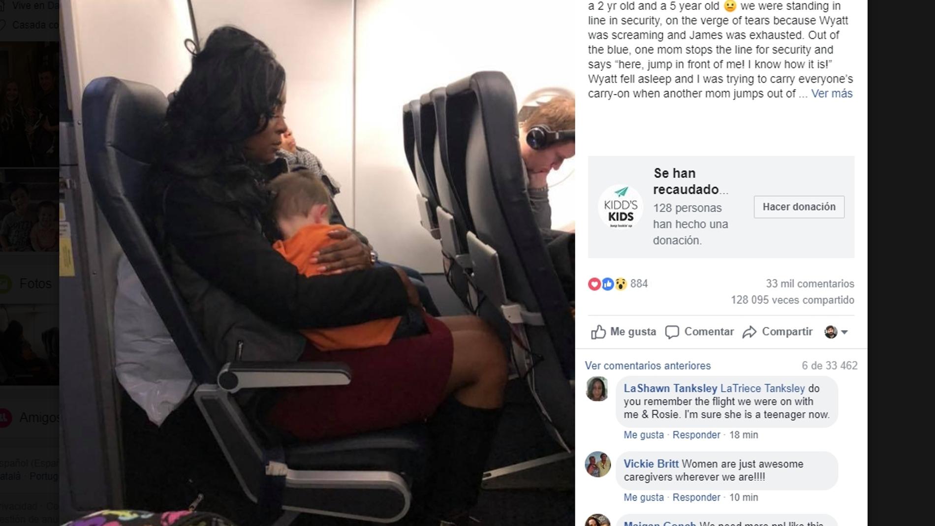Historia viral en Facebook