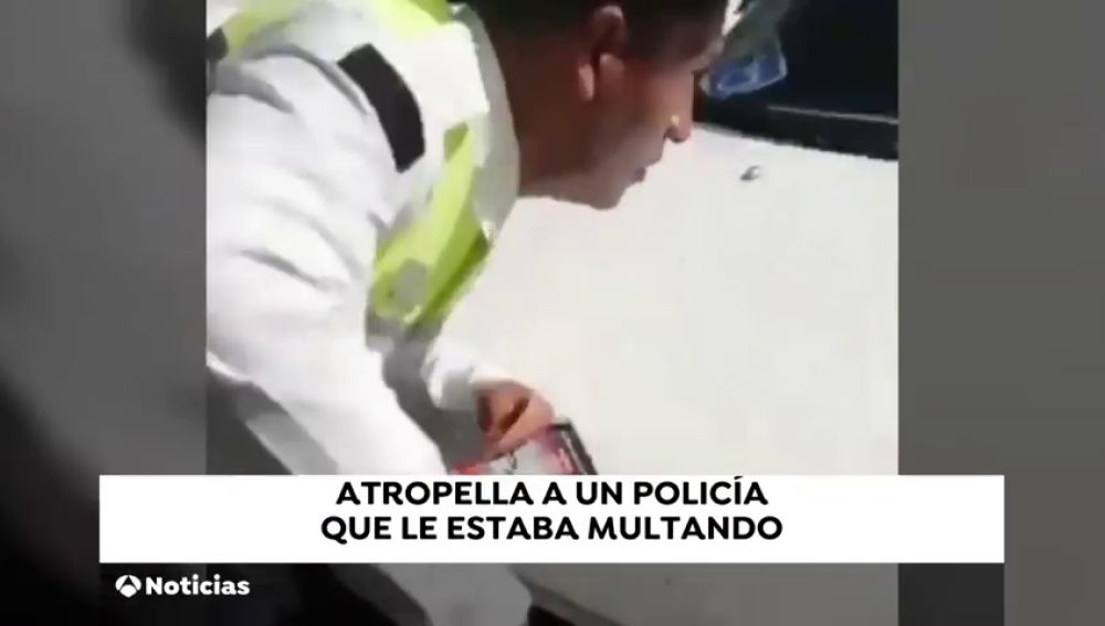 Un hombre atropella a un agente para evitar una multa en México