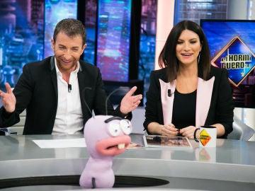 """La telepatía de Pablo Motos y Laura Pausini demuestra su conexión: """"Eres mi debilidad"""""""