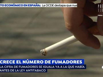 Crece el número de fumadores