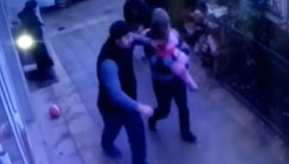 Pantallazo del vídeo de las cámaras de seguridad