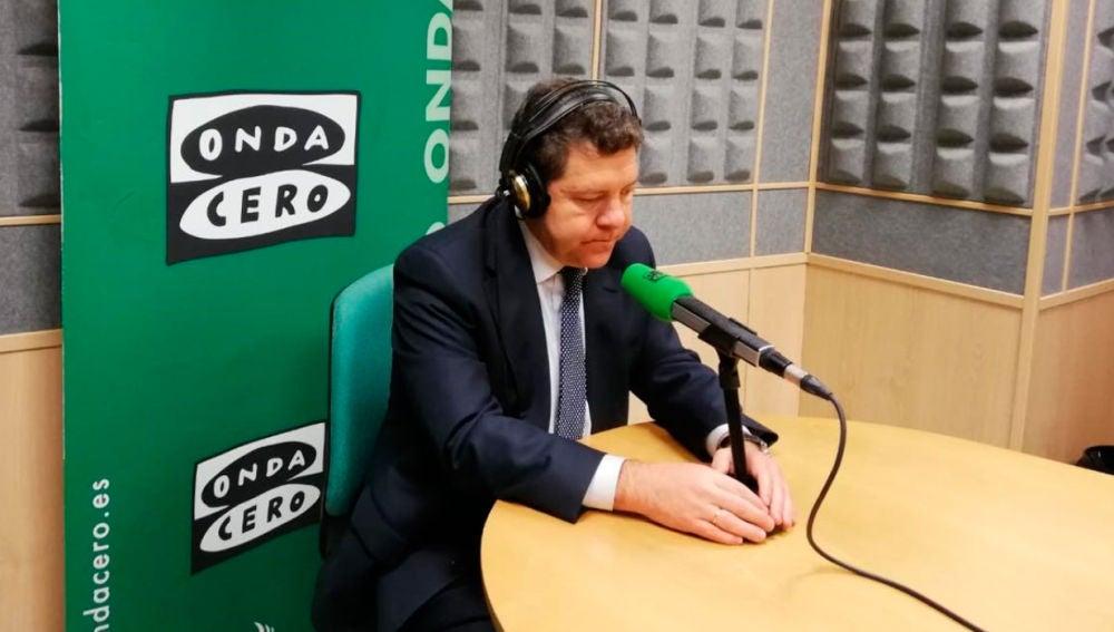 Emiliano García- Page durante una entrevista en Onda Cero