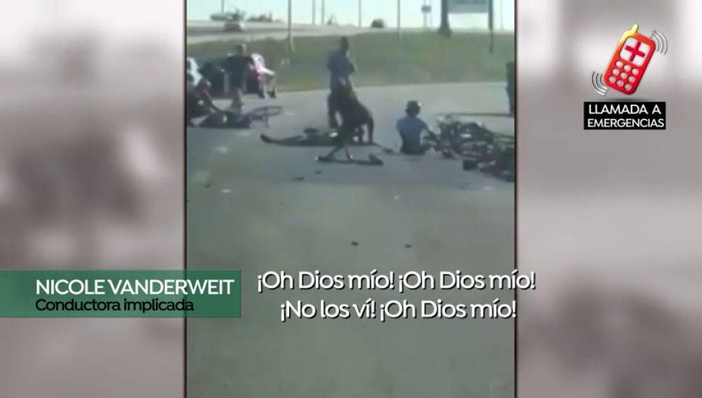 La desgarradora llamada de emergencia de una conductora tras un atropello masivo: murieron dos ciclistas