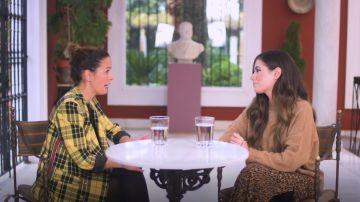 Elena Arcelus durante su entrevista con Cristina Ferris