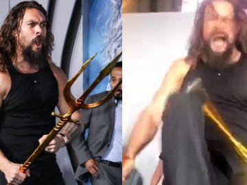 Jason Momoa en la premiere de 'Aquaman'