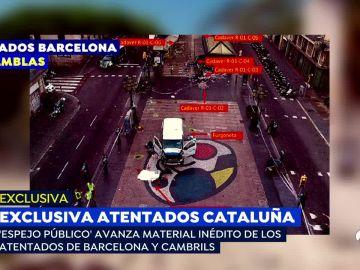 Furgoneta que atentó en Barcelona