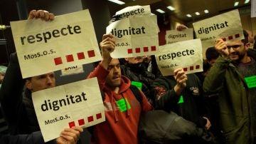 Protestas de los Mossos d'Esquadra