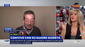 """El hombre que convivió un año con el cadáver de su madre se enfada con Susanna Griso en directo: """"Esto se cortó ya"""""""
