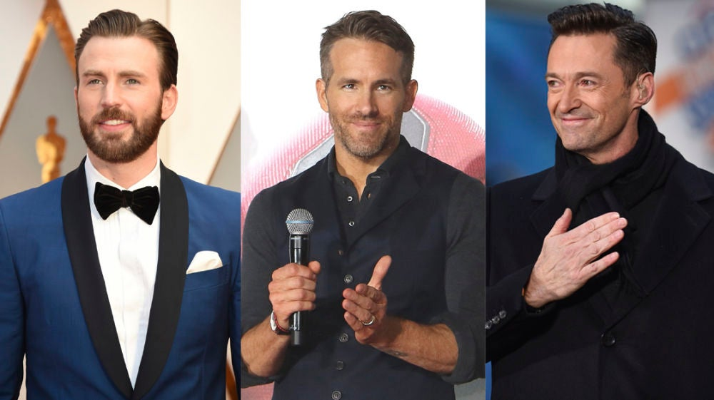 Chris Evans, Ryan Reynolds y Hugh Jackman