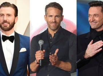 Chris Evans, Ryan Reynolds y Hugh Jackman