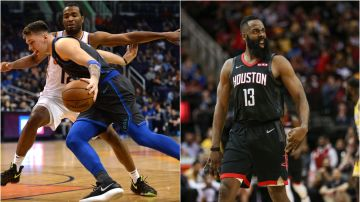 Luka Doncic y James Harden, en acción con Dallas y Hosuton