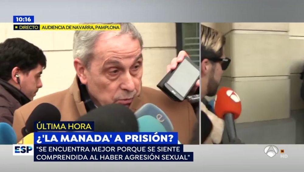 """El abogado de la víctima de La Manada: """"Como mínimo irán once años a la cárcel y debe ser ya porque hay riesgo de fuga"""""""