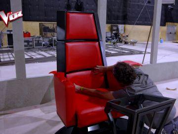 Así se construyó el sillón de los coaches de 'La Voz'