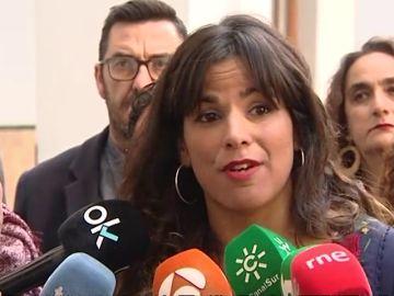 """Teresa Rodríguez: """"No aceptamos operaciones de blanqueo de un pacto a tres entre las derechas y la extrema derecha"""""""