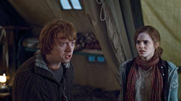 Rupert Grint y Emma Watson en 'Harry Potter'