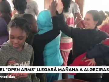El Open Arms llegará mañana a Algeciras