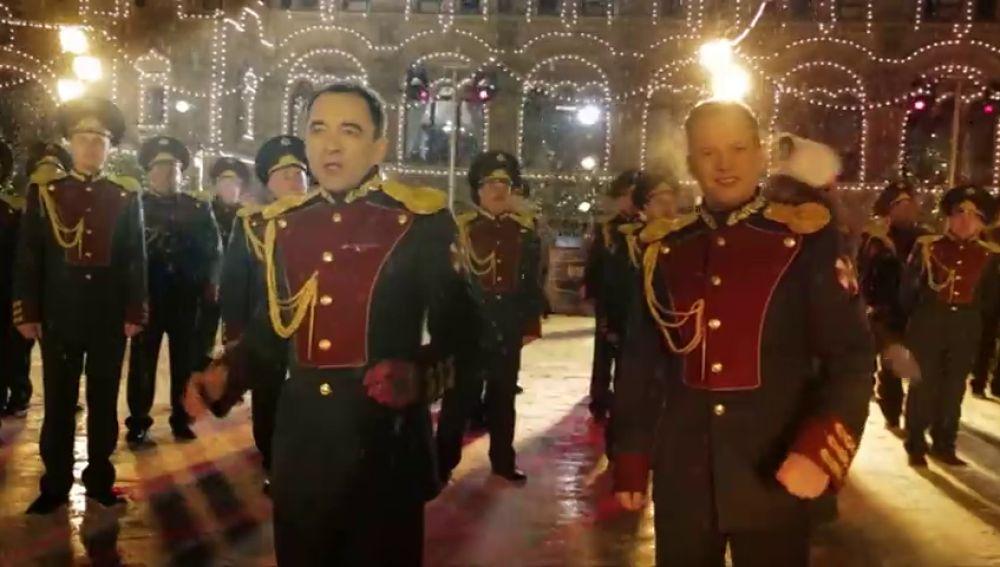 La Guardia Nacional rusa celebra la Navidad al ritmo de 'Last Christmas'