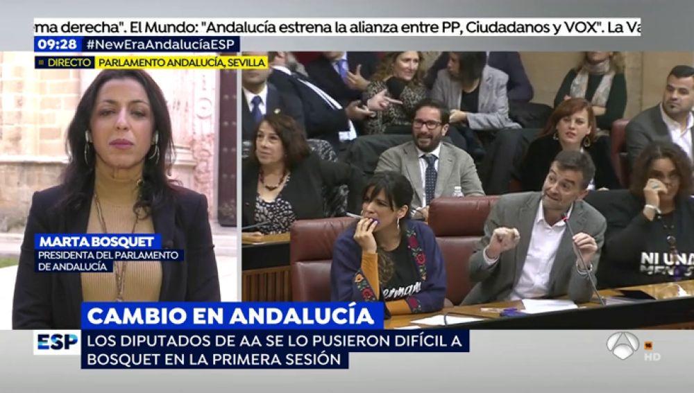 """Marta Bosquet, sobre la presencia de Vox en la Mesa del Parlamento: """"No es mi papel valorar las fuerzas que me han votado"""""""