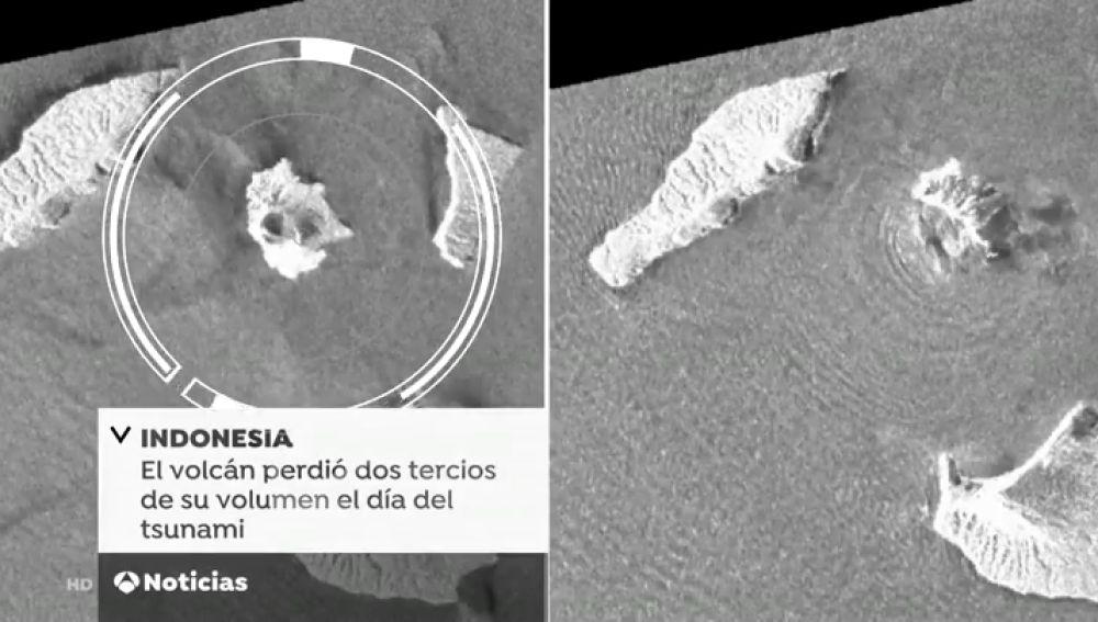 Unas imágenes vía satélite muestran la brutal erupción del volcán Anak Krakatoa que provocó el tsunami en Indonesia