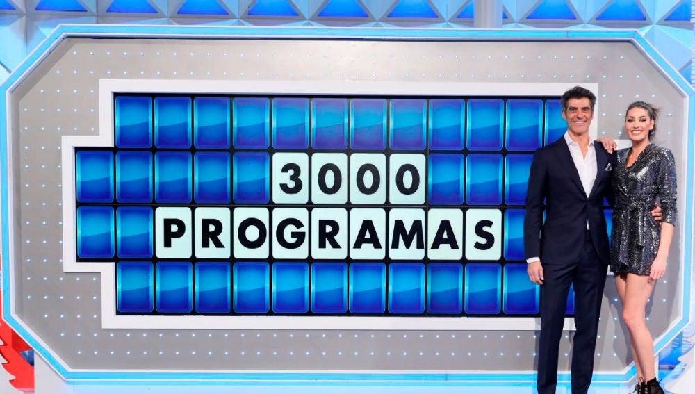 'La ruleta de la suerte' cumple 3.000 programas como líder absoluto y lo más visto de la mañana