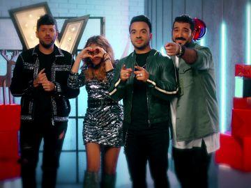 Los coaches de 'La Voz' te felicitan el 2019 en Antena 3
