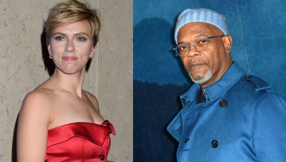 Scarlett Johansson y Samuel L. Jackson