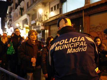 Miembros de la Policía Municipal ensayan el dispositivo de seguridad