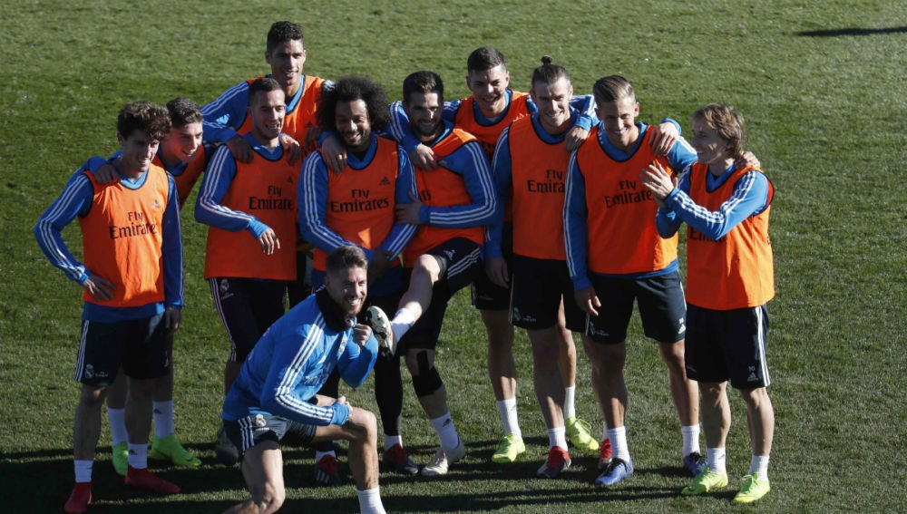 El Real Madrid, en un entrenamiento