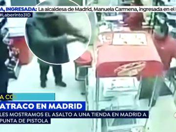 Asalto a punta de pistola en una tienda en Madrid