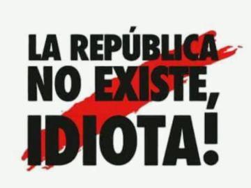 """Salen a la venta productos con la frase """"La República no existe, idiota"""" que un mosso dijo a un manifestante el 21D"""